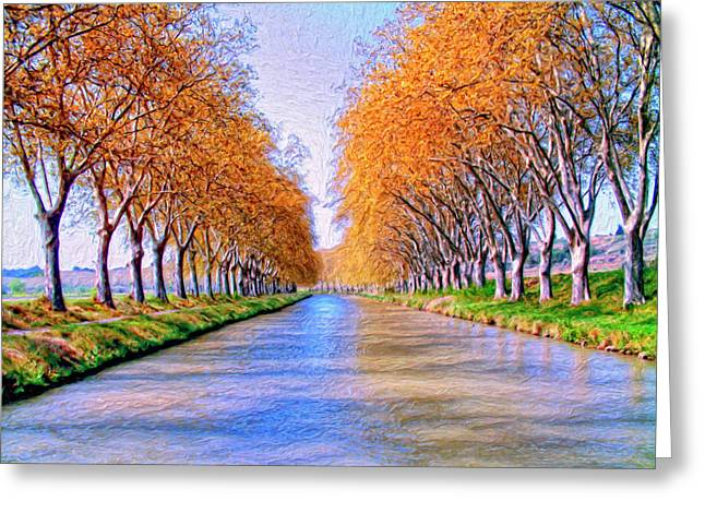 Midi Greeting Cards - Canal du Midi Greeting Card by Dominic Piperata