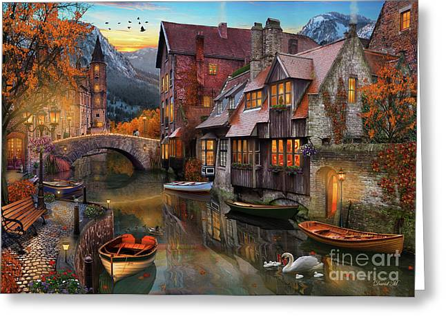 Canal Home Greeting Card by MGL Meiklejohn Graphics Licensing