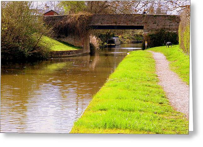 Northamptonshire Greeting Cards - Canal in Oxford England Greeting Card by Mindy Newman