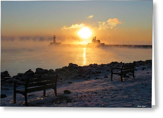 Canal Park At 18 Below Greeting Card by Alison Gimpel