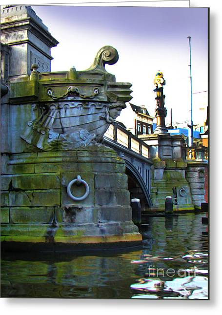 Prow Greeting Cards - Canals Of Amsterdam IV Greeting Card by Al Bourassa