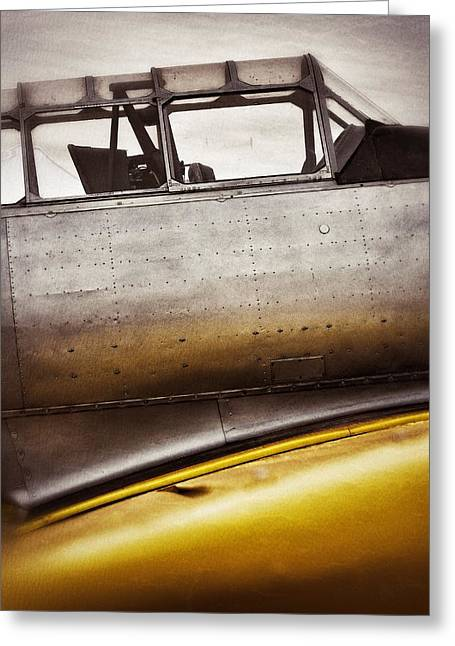 Airplane Prop Greeting Cards - Canary Greeting Card by Pair of Spades