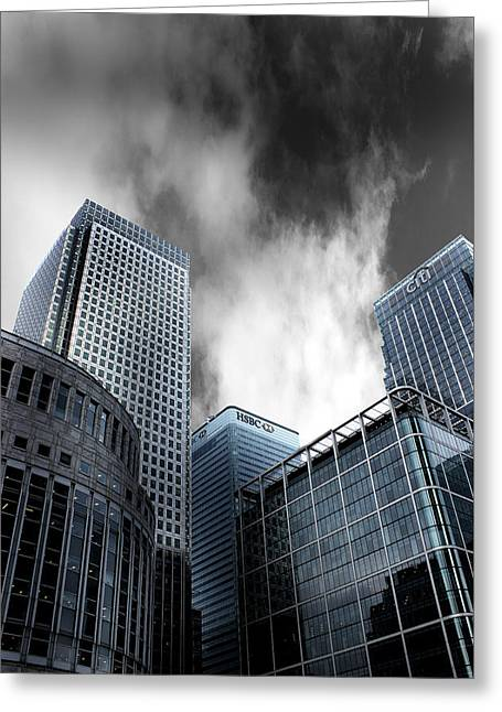 Canary Wharf Greeting Card by Martin Newman