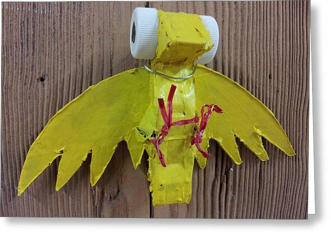 Stronger Sculptures Greeting Cards - Canary Greeting Card by William Douglas