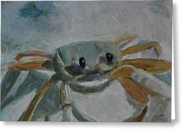 Cancer's Are Not Crabby Greeting Card by Billie Colson