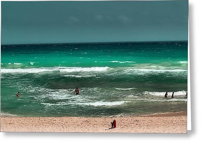 Cancun Greeting Cards - Cancun Beach Greeting Card by Jimmy Ostgard