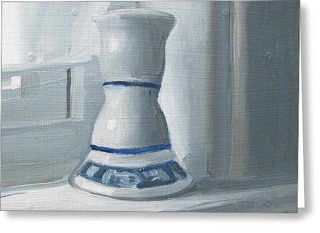 Candle Lit Greeting Cards - Candle Holder on Sill Greeting Card by Michael William
