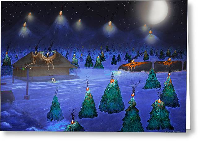 Candle Mountain Express 2 Greeting Card by Ken Figurski