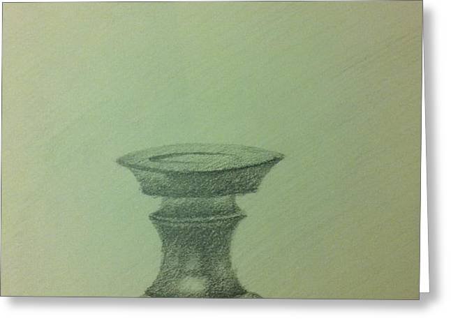 candle stand study Greeting Card by Krishnamurthy S