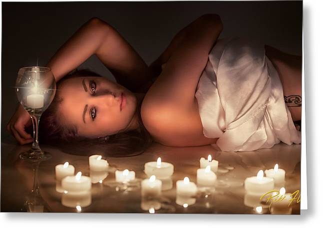 Candlelight Greeting Card by Rikk Flohr