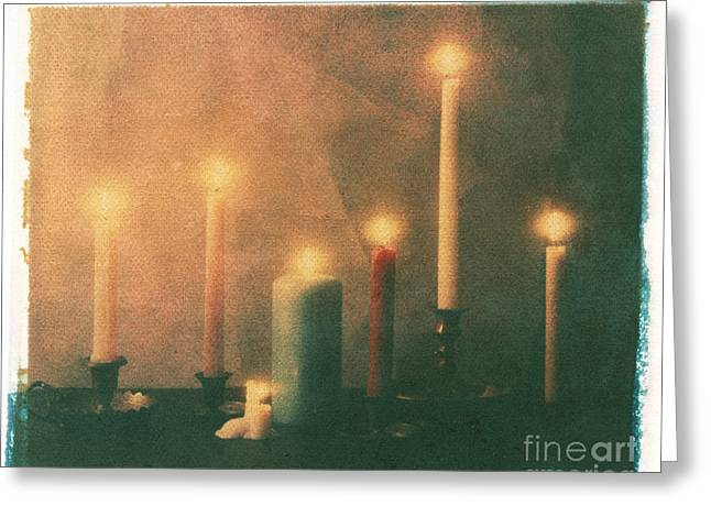 Candle Lit Greeting Cards - Candles Greeting Card by Jim Wright