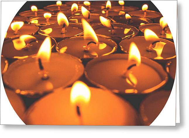 Candle Lit Greeting Cards - Candles Greeting Card by Petersam Fahnrich
