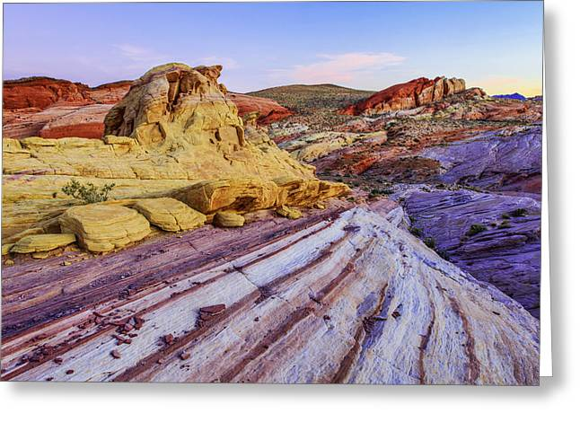 Yellow Brown Greeting Cards - Candy Cane Desert Greeting Card by Chad Dutson