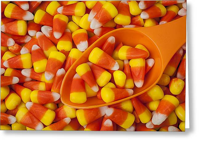 Eats Greeting Cards - Candy corn Greeting Card by Garry Gay