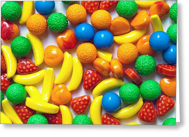 Hard Candies Greeting Cards - Candy Fruit Greeting Card by Art Block Collections