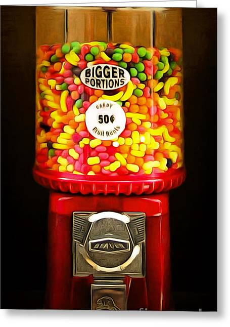 Candy Machine 40d8940 20150222 Greeting Card by Home Decor