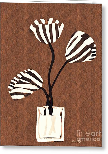 Candy Stripe Tulips 3 Greeting Card by Sarah Loft