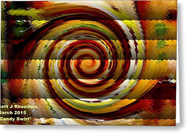 Cellphone Greeting Cards - Candy Swirl H a Greeting Card by Gert J Rheeders