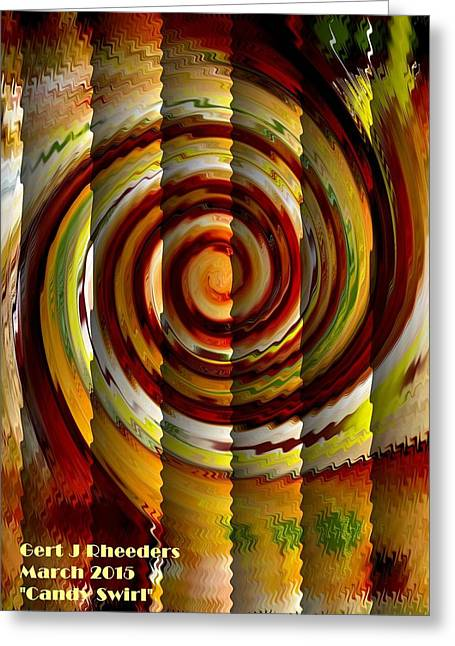 Abstract Digital Pastels Greeting Cards - Candy Swirl V a Greeting Card by Gert J Rheeders