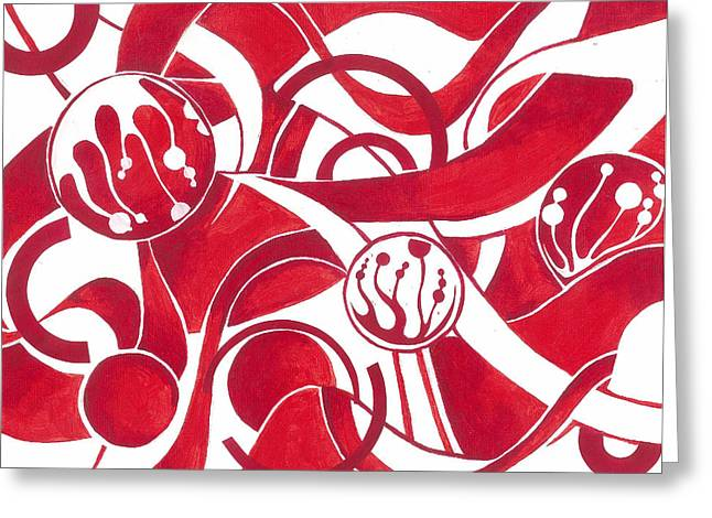 Curve Ball Paintings Greeting Cards - Cane Greeting Card by Adrienne McMahon