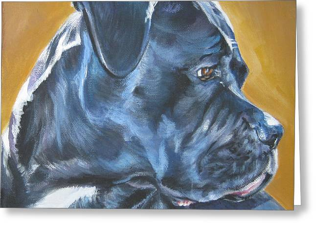 Cane Greeting Cards - Cane Corso Greeting Card by Lee Ann Shepard