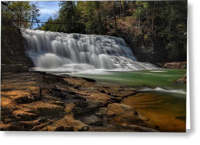 Cane Creek Greeting Cards - Cane Creek Cascades Greeting Card by Jeff Burcher