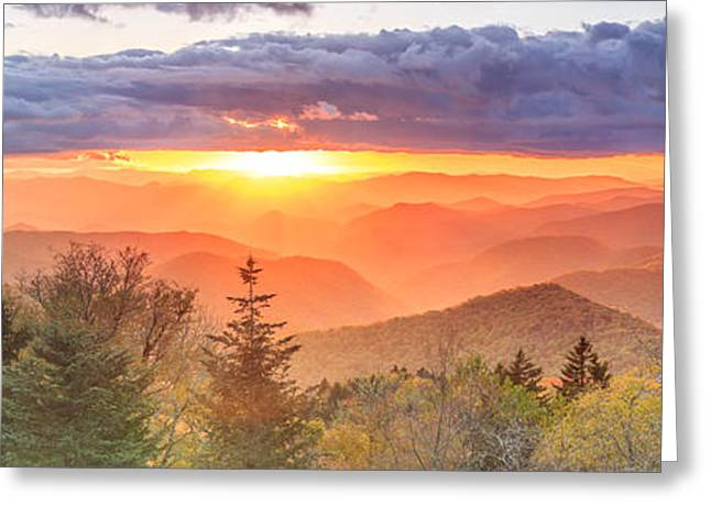 Cullowhee Greeting Cards - Caney Fork Sunset Greeting Card by Stacy Redmon