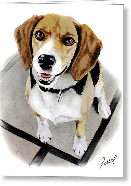 Canine Cutie Greeting Card by Ferrel Cordle