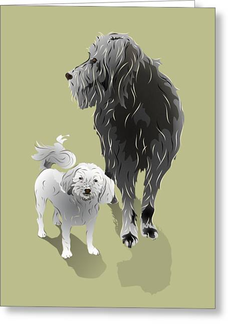 Canine Friendship Greeting Card by MM Anderson