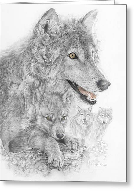 Recovery Art Greeting Cards - Canis Lupus V The Grey Wolf of the Americas - The Recovery  Greeting Card by Steven Paul Carlson