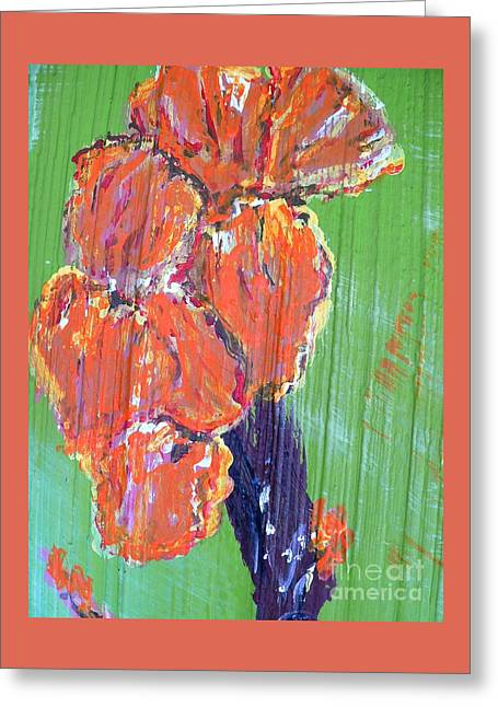 Canna Mixed Media Greeting Cards - Canna Lilies 2 Greeting Card by Craig King
