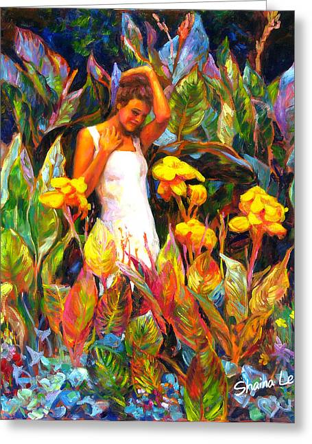 Canna Greeting Cards - Canna Greeting Card by Shaina  Lee