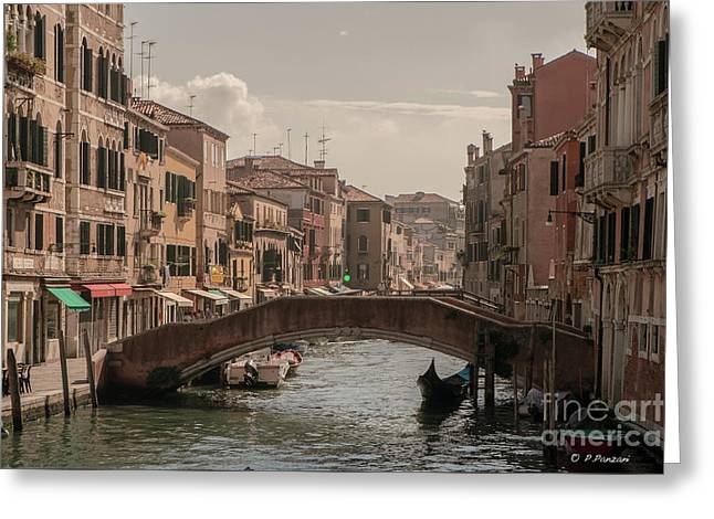 Photograph Of Painter Greeting Cards - Cannaregio Greeting Card by Giuseppe Mauro Panzani