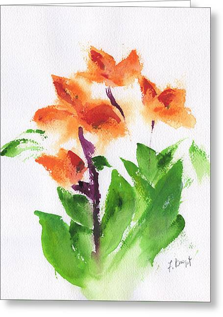Cannas Abstract Greeting Card by Frank Bright