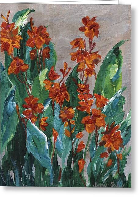 Cannas Greeting Card by Jamie Frier