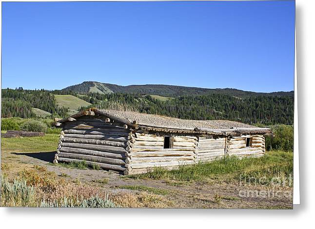 Old Cabins Greeting Cards - Canningham Cabin Grand Tetons National Park Greeting Card by Teresa Zieba
