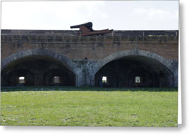 Civil War Battle Site Greeting Cards - Cannon at Fort Pickens Greeting Card by Laurie Perry