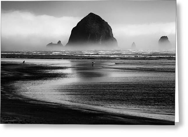 Oregon Coast Greeting Cards - Cannon Beach Greeting Card by Martin Rak