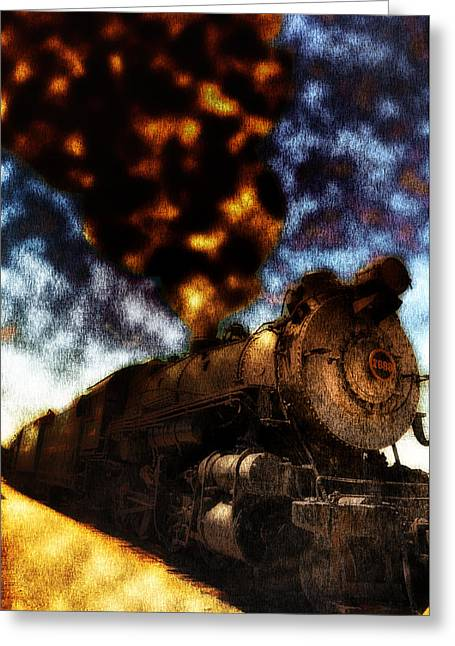 Express Digital Greeting Cards - Cannonball Express Greeting Card by Bill Cannon