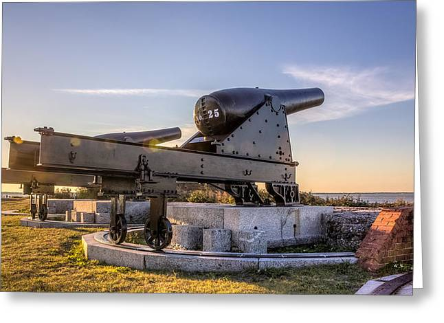 Confederacy Digital Art Greeting Cards - Cannons at Fort Clinch Sunset 2 Greeting Card by Rob Sellers