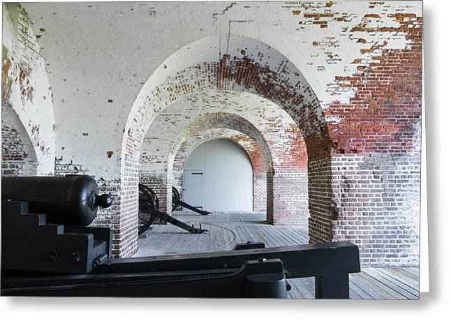 Mccoy Greeting Cards - Cannons at Fort Pulaski Greeting Card by A Different Brian Photography