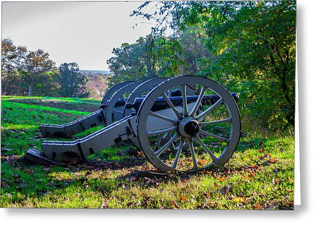 Cannons At Valley Forge Park Greeting Card by Bill Cannon