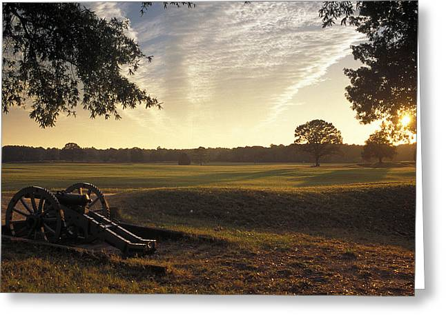Visitor Center Greeting Cards - Cannons On The Battlefield Greeting Card by Richard Nowitz