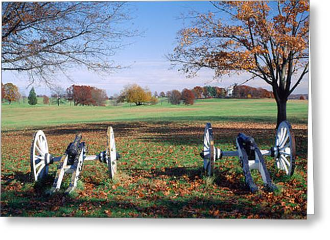 Cannons Valley Forge National Greeting Card by Panoramic Images
