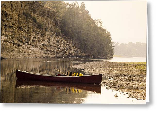 Canoe Photographs Greeting Cards - Canoe at Sunset Greeting Card by David M Porter