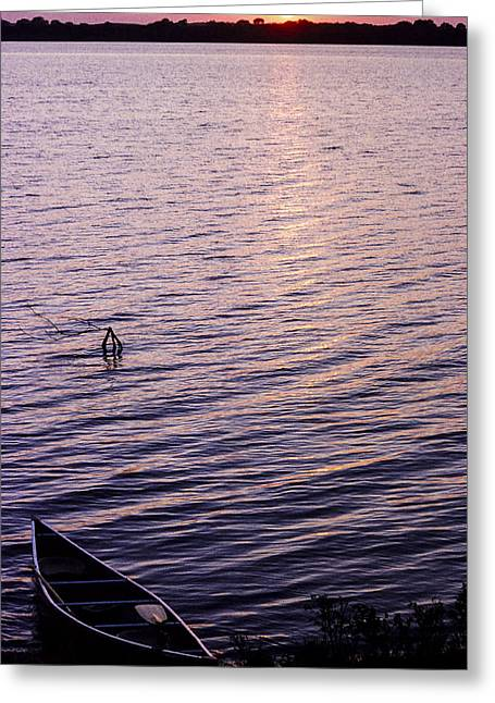 Canoe Photographs Greeting Cards - Canoe at the End of the Day Greeting Card by David M Porter