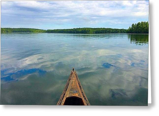 Canoe Photographs Greeting Cards - Canoe Colors Greeting Card by Amy Fecteau