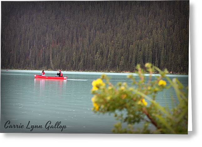 Canoe Greeting Cards - Canoe in Focus Greeting Card by Carrie Gallop