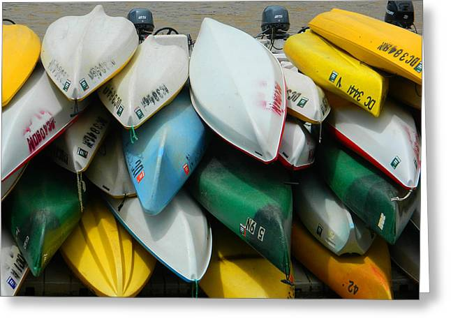 Canoe Greeting Cards - O Row You Didnt Greeting Card by Emmy Marie Vickers