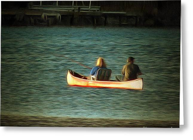 Canoe Photographs Greeting Cards - Canoe Greeting Card by Stacey Brooks